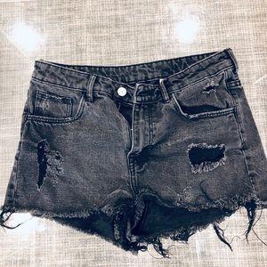 H&M distresses women's size 8 high waist denim